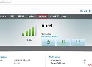 Airtel Hotspot Login homepage